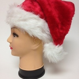 Deluxe santa hat - pack of 12