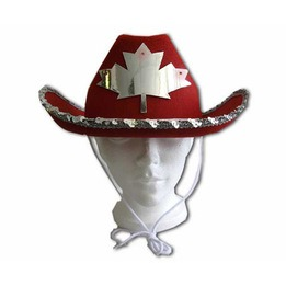 Light-up Canada cowboy hat