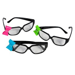 Black nerd glasses with bow
