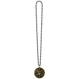Collier de perles avec médaillon Pirate 36""