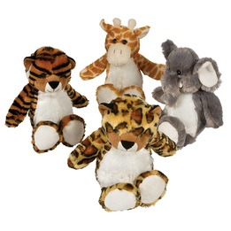 Peluche animaux de la jungle 11\""