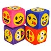 Plush Colored EMOTICON dice